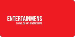 entertainmens logo, clinics, shows en workshops
